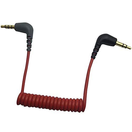 Basage Reemplazo de Cable Adaptador TRS de 3,5 Mm una TRRS de 3,5 Mm para RODE Sc7 de VIDEOMIC GO Video -Type Mics