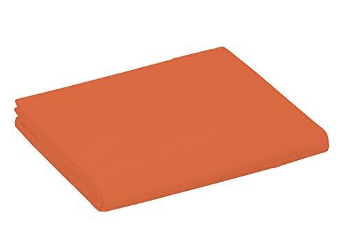 UNIVERS-DECOR Drap Plat 57 Fils/cm² 240 x 300 cm Orange