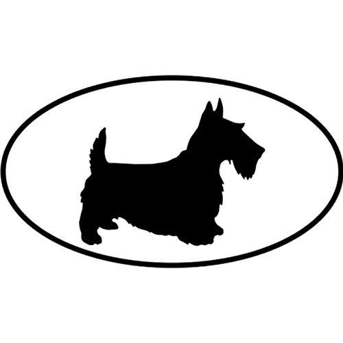 Empty 3 Stück Auto Aufkleber und Abziehbilder 13.8 * 7.7CM Scottish Terrier Hund Wasserdichtes, reflektierendes Abziehbild für Stoßstangenfenster Laptop Motorrad Fahrradgepäck Graffiti Patches