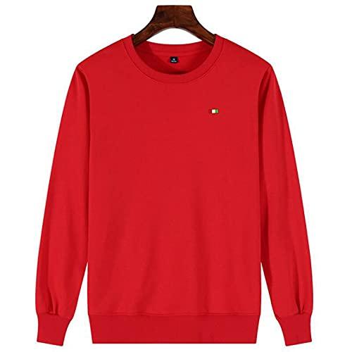 ShSnnwrl Reclaimed Yarn Eco Friendly Top Sudaderas para Hombre de otoño Casual Color sólido Cuello Redondo Sudaderas con Capucha