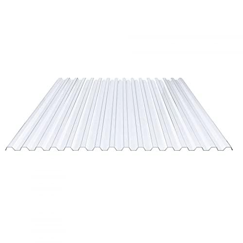 Lichtplatte | Spundwandplatte | Profil 70/18 | Material PVC | Breite 1095 mm | Stärke 1,2 mm | Farbe Klarbläulich