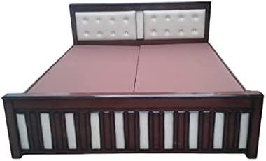 S K Royal Furniture- Teakwood Box Bottom cot | King Size-72x 78X 16 in | Queen Size 60x 78X 16 in (King)