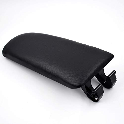 labwork Leather Armrest Center Box Console Lid Cover for 2004 2005 2006 2007 2008 Audi A4 B7 Black