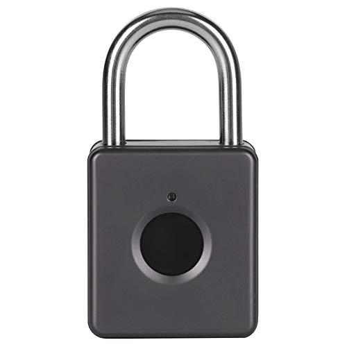 Cerradura de huellas dactilares, candado inteligente de huellas dactilares sin llave para gimnasio, puerta, equipaje, maleta, mochila, bicicleta, oficina, batería de litio de 3,7 V