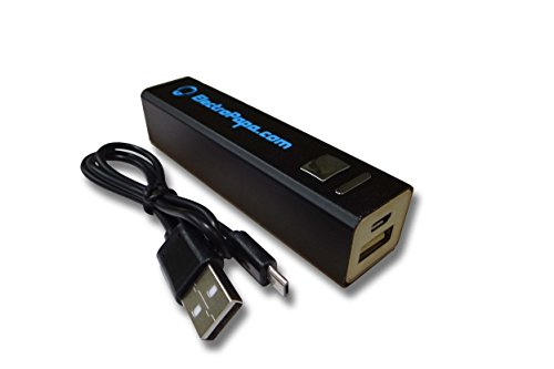 ElectroPapa Cargador Powerbank móvil, batería USB micro 2200mAh negro para Sony Xperia E3, E4g, Ion LT28h, M2 Aqua, Style