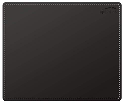 Speedlink NOTARY Soft Touch Mousepad - Mauspad in eleganter Lederoptik - schwarz