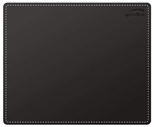 Speedlink NOTARY Soft Touch Mousepad - Mauspad mit eleganter Lederoptik, schwarz