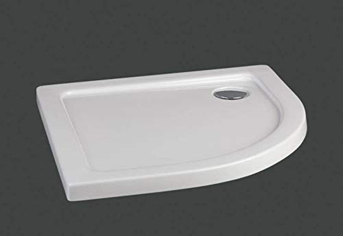 Plato de ducha semicircular en material acrílico | altura 5 cm| serie extraplano 90 X...