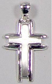 Zilveren kruisje 3333 met ketting 3460-38 cm