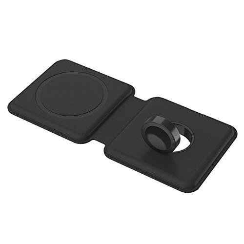 duoying Cargador inalámbrico, 15 W, cargador inalámbrico magnético plegable de carga rápida, fácil de transportar, cargador inalámbrico portátil para iPhone 12, carga rápida