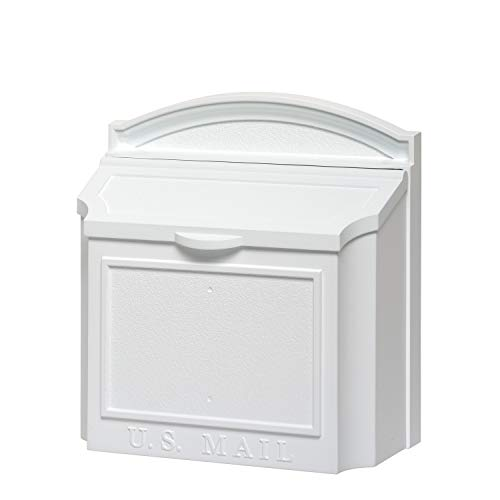 Whitehall Products 16139 Wall Mailbox, White