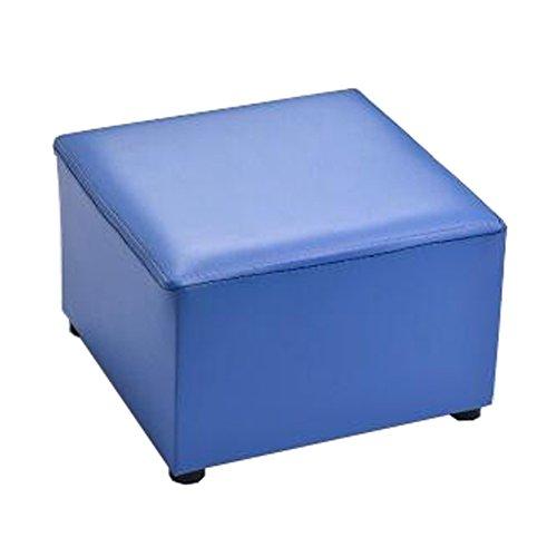 Moderner quadratischer Kunstleder-moderner kleiner Schemel-Tabellen-Schemel Sofa Pier Ottoman Stool, Blau