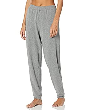 Hue Women s Solid French Terry Cuffed Long Lounge Pant With Pockets Sleepwear -Medium Grey Heather Extra Large