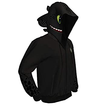 Dragon Hoodie Sweater Hiccup Costume Cosplay Jacket Toothless Pullover Sweatshirt XL