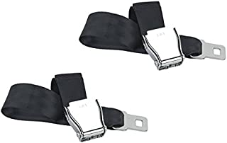 Adjustable, E4 Safety Certified Airplane Seat Belt Extension with Velour Carrying Case for Easy Travel - Universal to Fit All Airlines Except Southwest Airplanes (2-Pack)