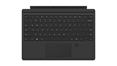 Microsoft Signature Type Cover - Funda con teclado para Surface Pro, Negro - Teclado QWERTY Español con reconocimiento de huella dactilar