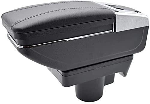 SIOM Caja De Cuero para Reposabrazos De Consola De Coche, para Opel Astra H 2004-2014 Cenicero Giratorio Organizadores De Consola Central Soporte De Almacenamiento para Reposabrazos, Accesorios D