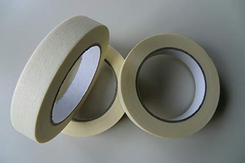 Heckmann - Nastro adesivo rimovibile, 19 mm x 50 m, colore: Camoscio