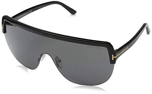 Tom Ford Heren Sonnenbrille FT0560 00 01A Zonnebril, zwart (Schwarz), 152.0