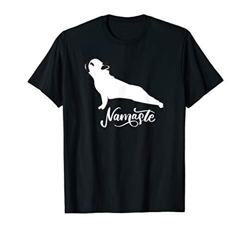namaste french bulldog Yoga gift for dog lovers Funny Cute T-Shirt