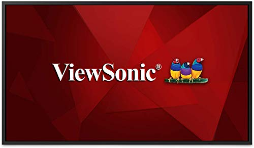 ViewSonic CDE4320 43 Inch 4K UHD Wireless Presentation Display with Integrated Quad Core Processor, 24/7 Operation Rating 16GB Storage Screen Sharing RJ45 or Wi-Fi HDMI DVI VGA, No Base Stand, Black