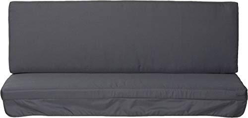 Beo Hollywood PY202 - Cuscino per dondolo con rivestimento idrorepellente, 180 x 56 cm, colore: antracite , set di 2 cuscine (seduta e schienale)