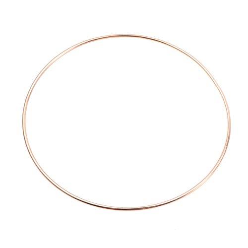 Healifty anillos de atrapasueños aros de metal creaciones de macramé anillo de chapado de hierro para manualidades diy material de fabricación de atrapasueños 250 mm