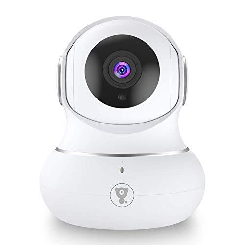 Überwachungskamera Innen, Babyphone mit Kamera, WLAN IP Kamera, 1080P WiFi Kamera mit Nachtsicht, 2-Wege-Audio,Tracking-Erkennung für Haustier/Baby/Ältere, Unterstützt Cloud-Speicher & SD-Karte