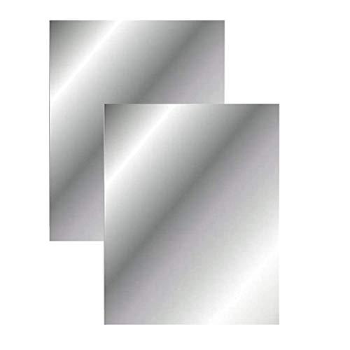 2 adesivi da parete in acrilico a specchio autoadesivi adesivi per specchio non in vetro, piastrelle per specchio fai da te, decorazione da parete domestica (40 × 30 cm) (2)