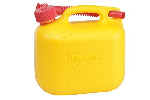 Preisvergleich Produktbild Kraftstoff-Kanister STANDARD 5l für Benzin,  Diesel und andere Gefahrgüter,  UN-Zulassung,  made in Germany,  TÜV-geprüfter Produktion,  gelb