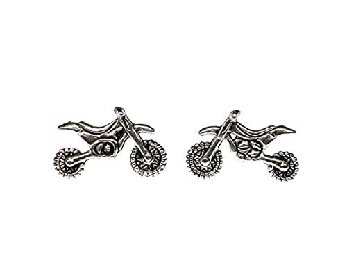 Miniblings Motocross Motorrad Ohrstecker Stecker Ohrringe Enduro Motorräder - Handmade Modeschmuck I Ohrringe Stecker Ohrschmuck