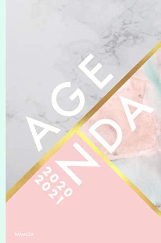 Agenda 2020/2021 Ragazza: Agenda settimanale 2020/2021 A6 tascabile | 18 mesi | luglio 2020 - dicembre 2021 | Agenda 2020 giornaliera italiano | marmo rosa e strisce