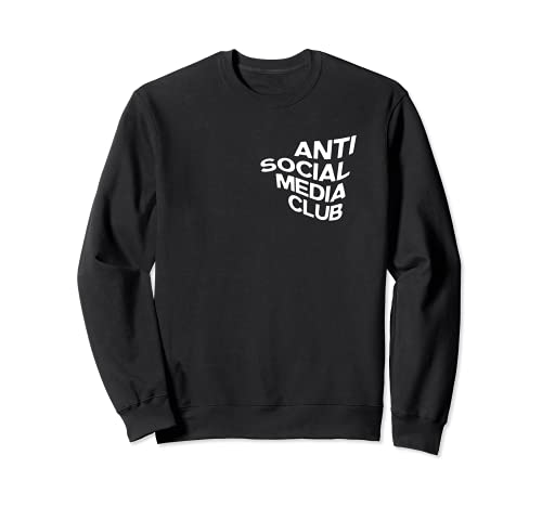 Divertente Anti-Social Media Club No Social Media Design Felpa