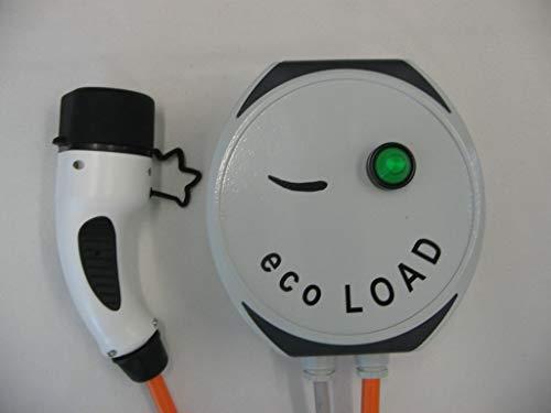 ecoLOAD - Cargador de Coche eléctrico, 11 kW, Cable de Carga Tipo 2, 5 Metros, Carcasa de Aluminio