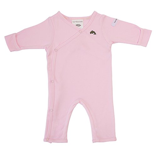 bamboo kidz - Combinaison - Bébé (fille) 0 à 24 mois rose Pink with dolphin Early Baby (up to 3,5 kg)