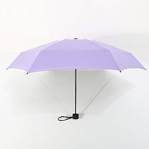 Parasol Parapluie Petite Mode Ultra Léger 5 Parapluie Pliant Pluie Femmes Hommes Mini Poche Revêtement Non-Noir Fille Imperméable Portable Parapluies Violet