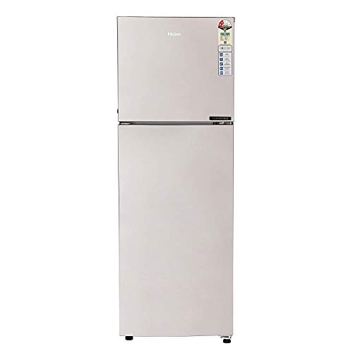Haier 258 L 2 Star Frost Free Double Door Refrigerator(HEF-25TGS, Grey Steel/Moon Silver, Convertible)
