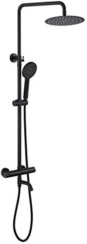 MFHSB Thermostatische Mixer-Duschkabine, Multifunktions-Duschset, Modernes All-Kopf-Wand-Warm-und Kaltduschkopf Hand Held Shower Scalding Protection