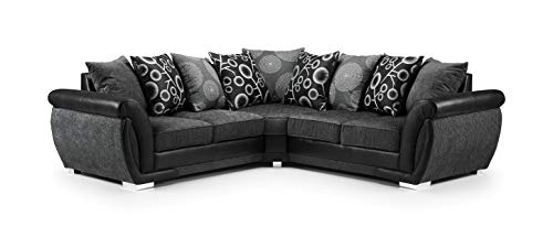 Honeypot - Sofa - Shannon - 3 Seater - 2 Seater - Armchair - Swivel chair - Corner - Black - Fabric (2C2 Corner)