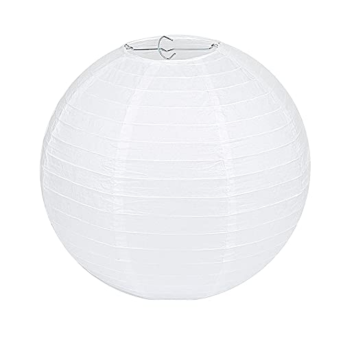Linterna de papel 1 pieza de 10,6 a 40,6 cm (10,6 cm - 16 pulgadas), diseño de bola de decoración de boda chino que desea, lámpara de papel de cumpleaños (color: blanco, tamaño de la linterna: 30 cm)