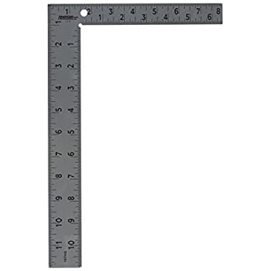 Johnson Level & Tool CS10 Professional Easy-Read Steel Carpenter Square, 8  x 12 , Original Version