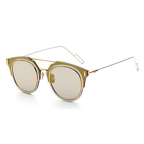 Bertha Compound Eyes Desginer Vintage Aviator Sunglasses Retro Round Lens...