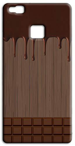 Mixroom - Cover Custodia Case in TPU Silicone Morbida per Huawei Ascend P9 Lite M733 Tavoletta di Cioccolata Sciolta