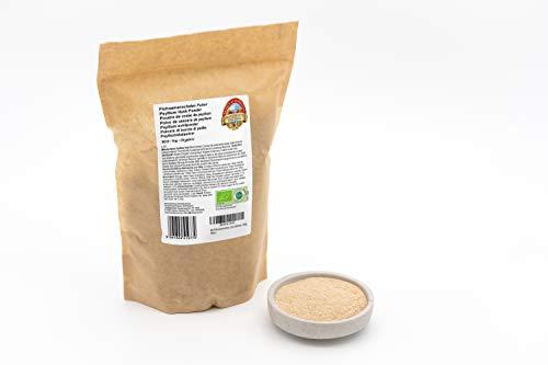 Bio Flohsamenschalen Pulver – 1kg – Rein und naturbelassen – 99 %+ Reinheit – Ohne Zusätze – Rohkost – Vegan