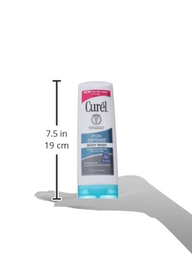 Curél Itch Defense Calming Body Wash, for Women and Men, Soap-free Formula, for Dry, Itchy Skin, with Hydrating Jojoba and Olive Oil, 10 Ounce
