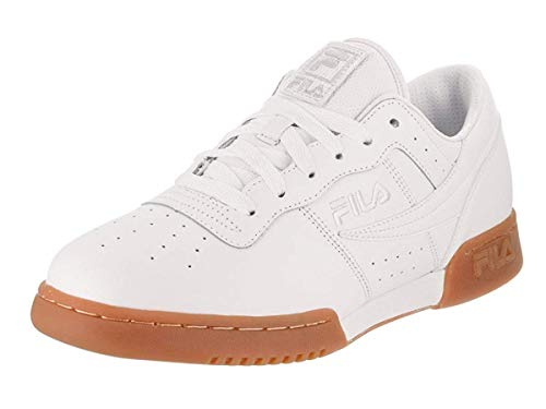 Fila Men's Original Fitness Sneakers White/White/Gum 10
