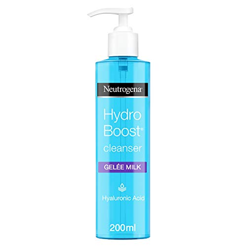 Neutrogena Hydro Boost Gelée Milk Cleanser, For Visibly Clean Skin, Face Wash Formulated with Hyaluronic Acid, 200 ml