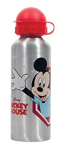 Botella de Agua de Aluminio, cantimplora térmica a Prueba de Fugas sin BPA para Levar a la Escuela y Deportes el Termo 500ml para niños y niñas (Gris-m)