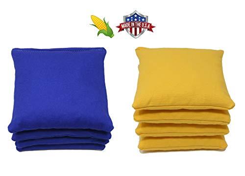 Cornhole Bags Set - (4 Royal Blue, 4 Yellow) By Free Donkey Sports
