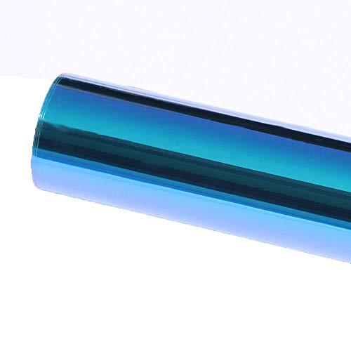 HOHOFILM Kleurrijke Blauwe Auto Venster Film Automotive Window Tint Kits Lijm Getinte Zon Blokkeren Warmteregeling voor Zijvenster